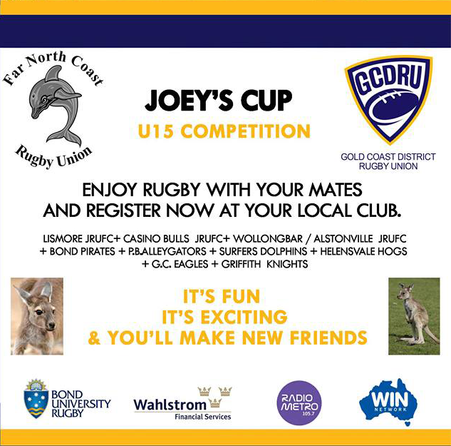 Under 15's Joey's Cup - Register at your local club